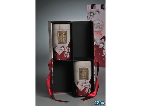 茶葉禮盒款式-紫紅(四兩禮盒)