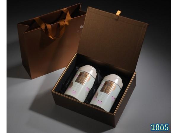 茶葉禮盒款式-白金(四兩禮盒)